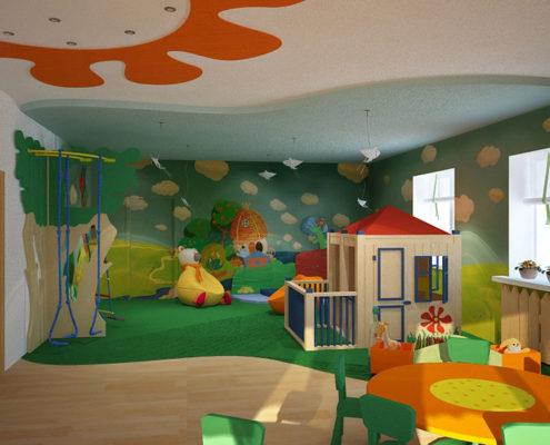 покраска группы в детском саду