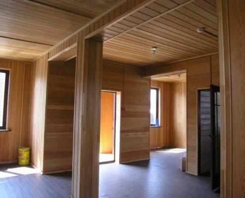 правила покраски деревянных стен