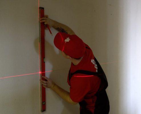 разметка стен перед покраской
