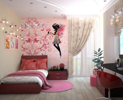 покраска стен в детской комнате